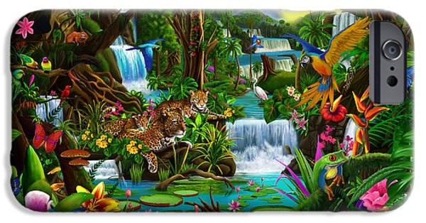Jungle iPhone Cases - Beautiful Rainforest iPhone Case by Gerald Newton