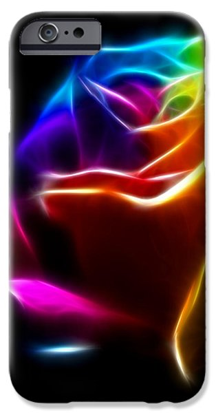 Genuine iPhone Cases - Beautiful Rose of Colors No2 iPhone Case by Pamela Johnson
