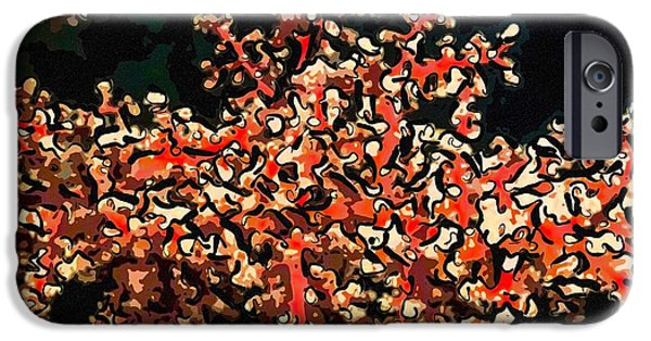 Granulatus iPhone Cases - Beautiful soft coral 3 iPhone Case by Lanjee Chee