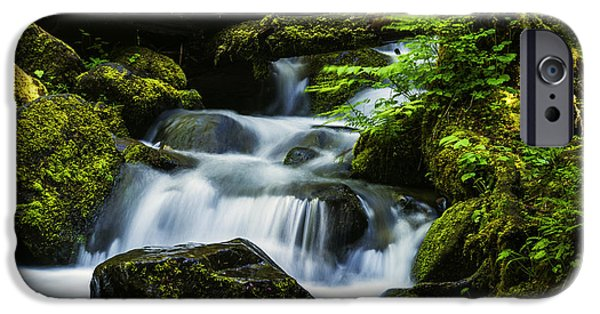 River iPhone Cases - Beautiful stream in Columbia River Gorge Oregon iPhone Case by Vishwanath Bhat