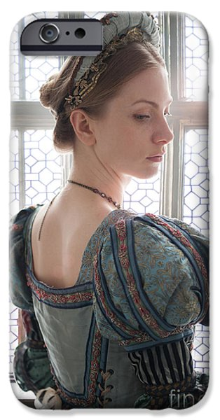 Duchess iPhone Cases - Beautiful Tudor Woman  iPhone Case by Lee Avison