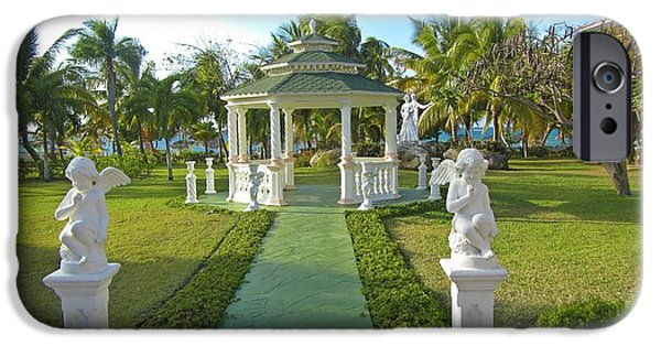 Love Sculptures iPhone Cases - Beautiful Wedding Gazebo iPhone Case by John Malone