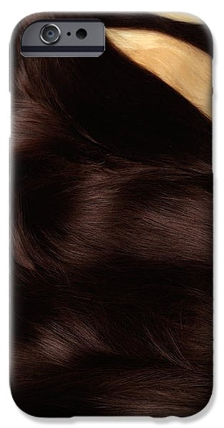 Beautiful Woman with Hair Extensions iPhone Case by Oleksiy Maksymenko