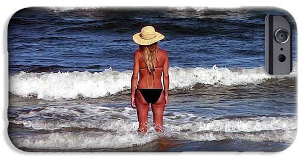 Bathing iPhone Cases - Beauty and the Beach iPhone Case by Al Powell Photography USA