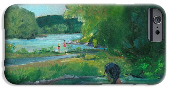 River View iPhone Cases - Beauty and the Beholder iPhone Case by Susan Esbensen