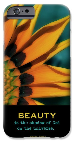 Floral Digital Art Digital Art Digital Art iPhone Cases - Beauty iPhone Case by Bonnie Bruno