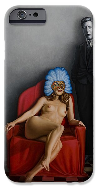 Nudes Paintings iPhone Cases - Beauty of the Carnival iPhone Case by Horacio Cardozo