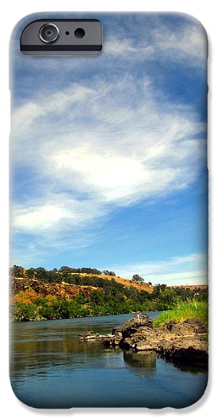 Tree Art Print iPhone Cases - Beauty On The Sacramento River iPhone Case by Joyce Dickens