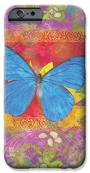 Butterflies Paintings iPhone Cases - Beauty Queen Butterfly iPhone Case by JQ Licensing