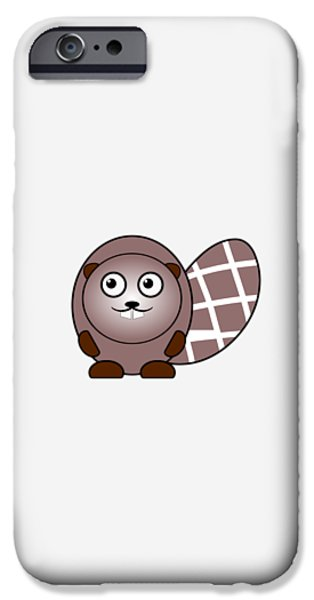 Girl iPhone Cases - Beaver - Animals - Art for Kids iPhone Case by Anastasiya Malakhova