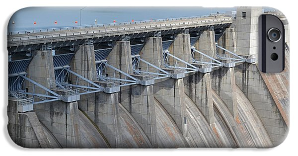 Arkansas iPhone Cases - Beaver Dam Spillway Gates iPhone Case by James Pinkerton