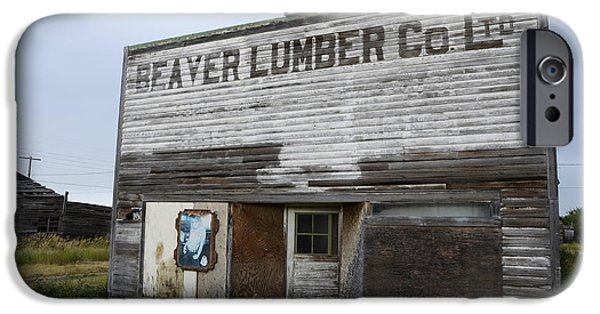 Beaver iPhone Cases - Beaver Lumber Company Ltd Robsart iPhone Case by Bob Christopher