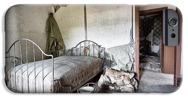 Sleeping Places iPhone Cases - Bed Time - Urban Exploration And Decay iPhone Case by Dirk Ercken