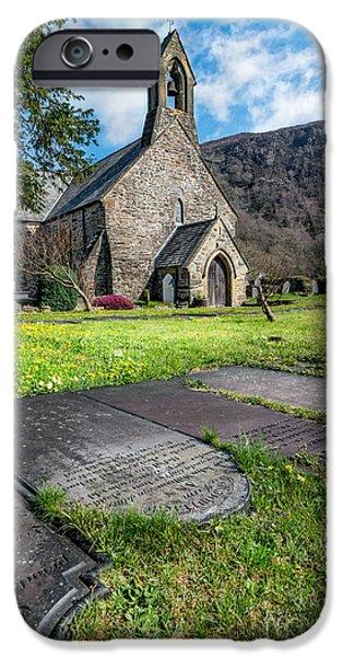 Marys iPhone Cases - Beddgelert Church iPhone Case by Adrian Evans