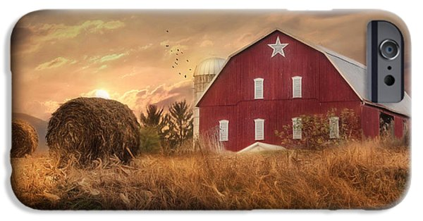 Rural iPhone Cases - Bedford County Sunset iPhone Case by Lori Deiter