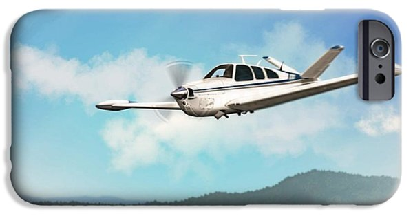 Aeronautics iPhone Cases - Beechcraft Bonanza V Tail iPhone Case by John Wills