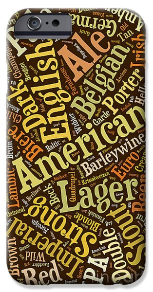 Berliner Pilsner iPhone Cases - Beer Lover Cell Case iPhone Case by Edward Fielding
