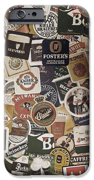 Pub iPhone Cases - Beers of the world iPhone Case by Nicklas Gustafsson