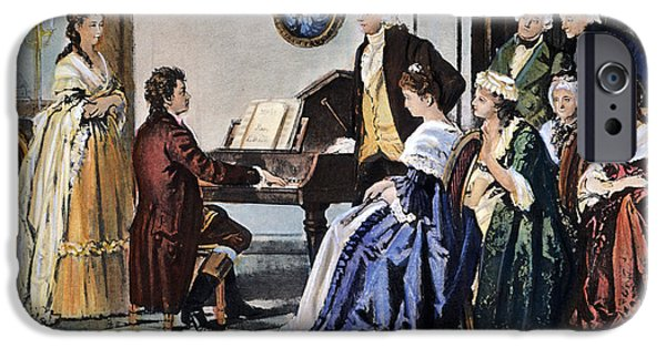 Piano iPhone Cases - Beethoven & Mozart, 1787 iPhone Case by Granger