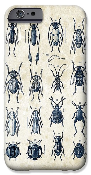 Beetle iPhone Cases - Beetles - 1897 - 04 iPhone Case by Aged Pixel