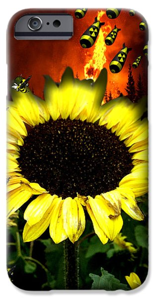 Flower Bombs iPhone Cases - Befense iPhone Case by Kraig Marshall