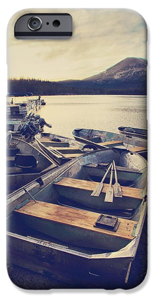 Boat iPhone Cases - Before Another Day Disappears iPhone Case by Laurie Search