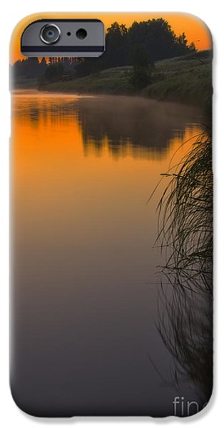 Finland iPhone Cases - Before sunrise on the river iPhone Case by Veikko Suikkanen