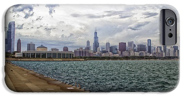 Willis Tower iPhone Cases - Before The Spring Storm Chicago Shedd Aquarium Eastside 02 iPhone Case by Thomas Woolworth