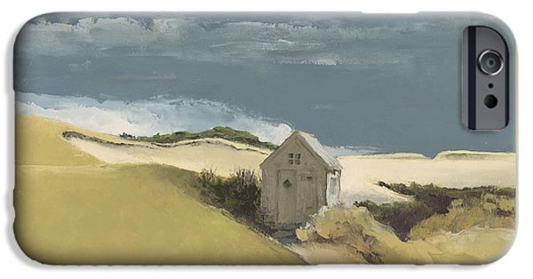 Storm Clouds Cape Cod iPhone Cases - Before the Storm iPhone Case by Andrea Petitto