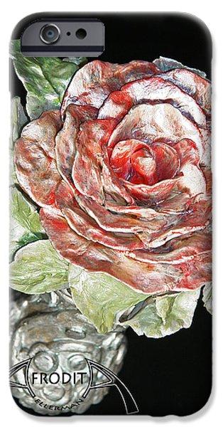 Rose Ceramics iPhone Cases - Beginning iPhone Case by Afrodita Ellerman