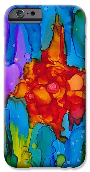 Under Water. Nature iPhone Cases - Beginnings Abstract iPhone Case by Nikki Marie Smith