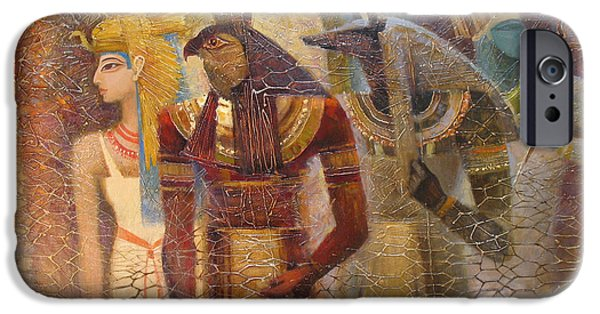 Horus iPhone Cases - Beginnings. Gods of Ancient Egypt iPhone Case by Valentina Kondrashova