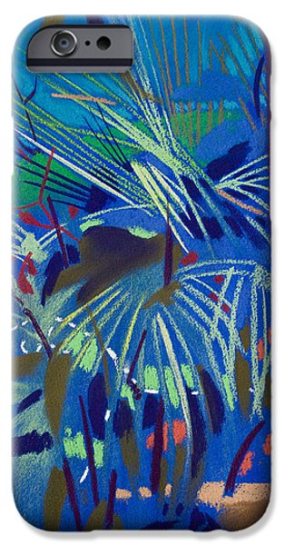 Outdoors Pastels iPhone Cases - Begonia Palm iPhone Case by Simon Fletcher