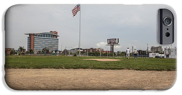 Baseball Stadiums iPhone Cases - Behind the plate Tiger Stadium  iPhone Case by John McGraw