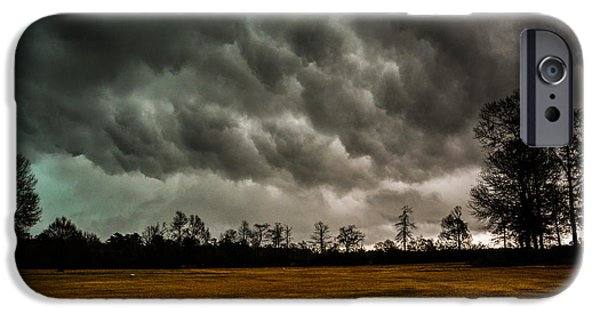 Clouds Tapestries - Textiles iPhone Cases - Behind the Tornado iPhone Case by James Hennis