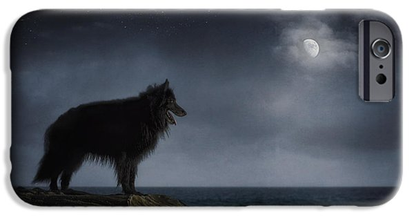 Black Dog iPhone Cases - Belgian Sheepdog Art 6 iPhone Case by Wolf Shadow  Photography