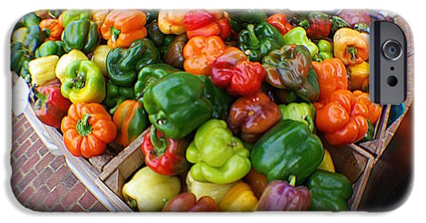 Shape iPhone Cases - Bell Peppers  iPhone Case by John S