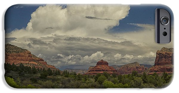 Red Rock iPhone Cases - Bell Rocks Beauty iPhone Case by Tom Kelly