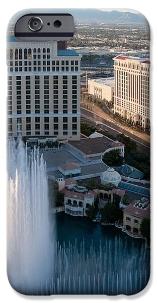 Bellagio Fountains at Dusk iPhone Case by Andy Smy