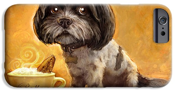 Portrait iPhone Cases - Bellas Biscotti iPhone Case by Sean ODaniels