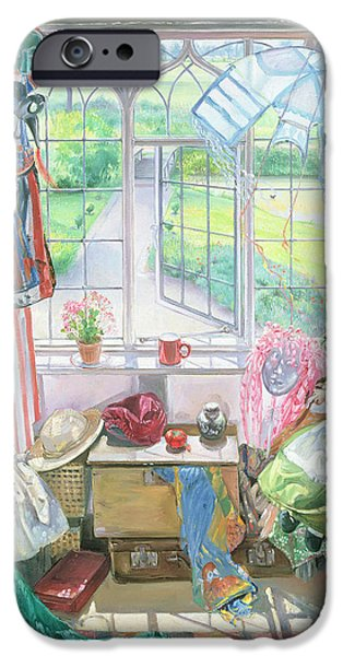 Ledge iPhone Cases - Bellas Room iPhone Case by Timothy Easton