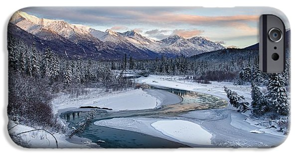 Winter Scenes Photographs iPhone Cases - Bellevue iPhone Case by Ed Boudreau