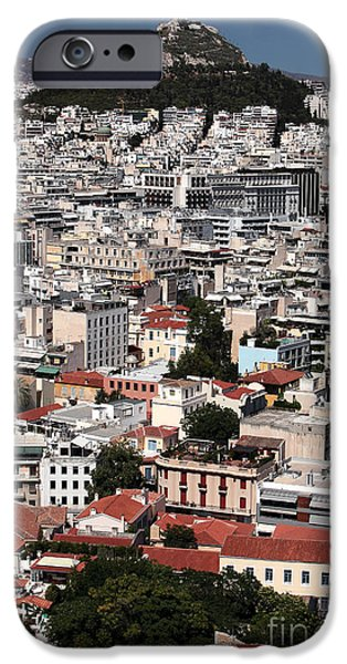 Greek School Of Art iPhone Cases - Below Mount Lykavittos iPhone Case by John Rizzuto
