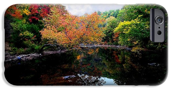 Androscoggin iPhone Cases - Below Snow Falls iPhone Case by Mike Breau
