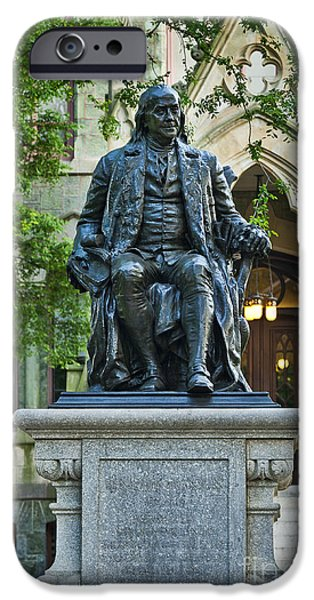 Recently Sold -  - Franklin iPhone Cases - Ben Franklin at the University of Pennsylvania iPhone Case by John Greim