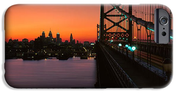 Franklin iPhone Cases - Ben Franklin Bridge iPhone Case by Panoramic Images