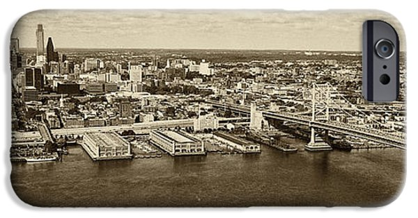 City Scape iPhone Cases - Ben Franklin Bridge Philadelphia iPhone Case by Jack Paolini
