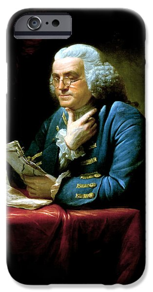 Marine iPhone Cases - Ben Franklin iPhone Case by War Is Hell Store