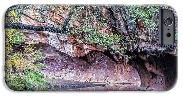 West Fork iPhone Cases - Bend in the Creek iPhone Case by Brian Lambert