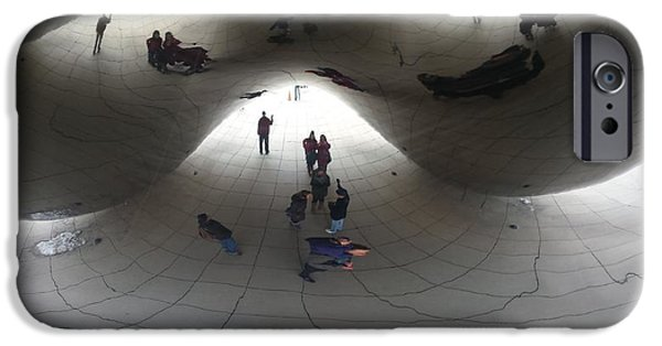 Chicago Sculptures iPhone Cases - Beneath the Bean iPhone Case by Mea